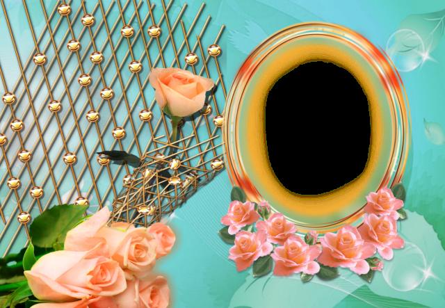 circulo muy hermoso y romantico con marco de fotos de flores - círculo muy hermoso y romántico con marco de fotos de flores