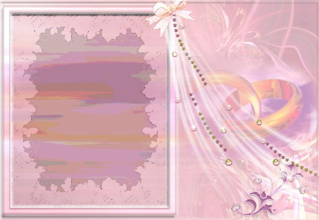 marco de boda rosa con marco de fotos de 2 anillos - marco de boda rosa con marco de fotos de 2 anillos