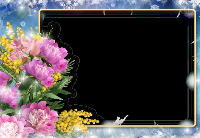 marco de fotos cuadrado con flores romanticas - marco de fotos cuadrado con flores románticas