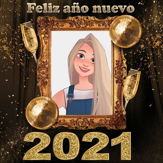 2021 marcos en png para fotos - 2021 marco de fotos de año nuevo