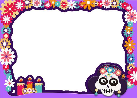 De Dia De Muertos En Mexico Marcos Para Foto - De Dia De Muertos En Mexico Marcos Para Foto