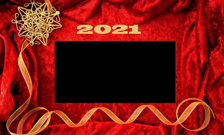 Marcos de fotos de año nuevo 2021