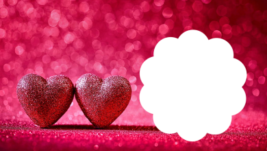 marco de corazon rosas