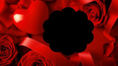 precioso marco de corazón rojo