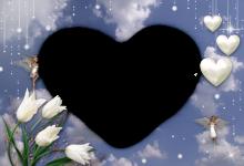El Amor Es Un Corazon Blanco Marcos Para Foto 220x150 - El Amor Es Un Corazon Blanco Marcos Para Foto